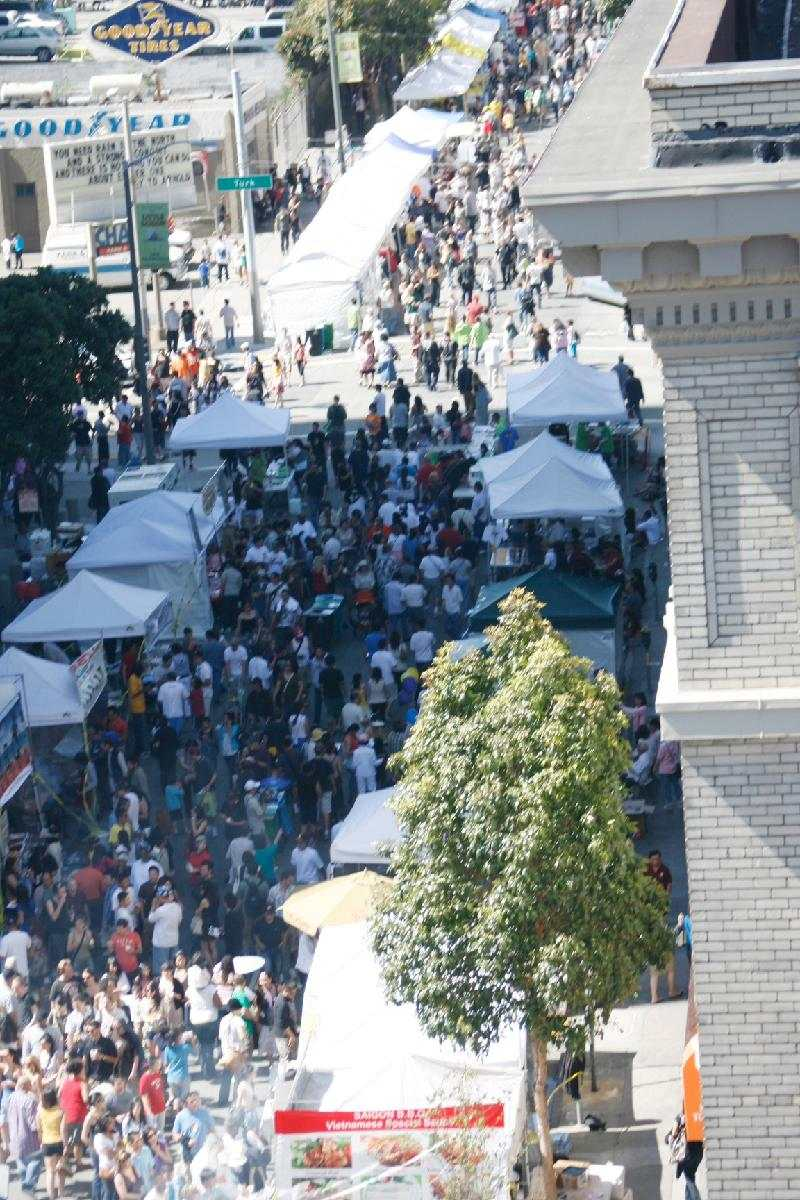 Aerial view of the Asian Heritage Street Celebration at Civic Center. Photo by Gerry Pangilinan.