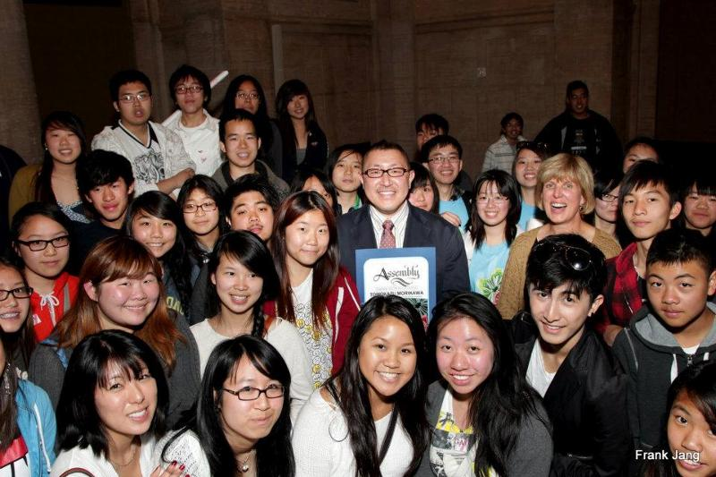 AHSC School Award Winner Tomokazu Morikawa and Washington  High School Students