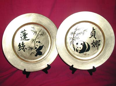 Gold Character Plates