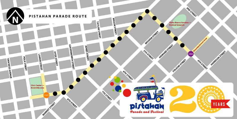Pistahan 2013 Parade Route