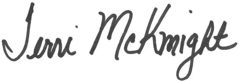Terri McKnight signature