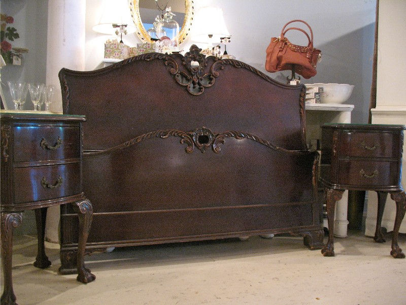 Vintage 1930 39 s bedroom suite new to the nest - 1930 s mahogany bedroom furniture ...