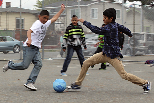 Soccer students sports activity
