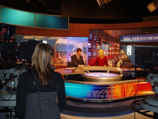 TV anchor desk