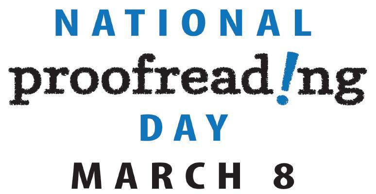 Nat'l Proofreading Day logo