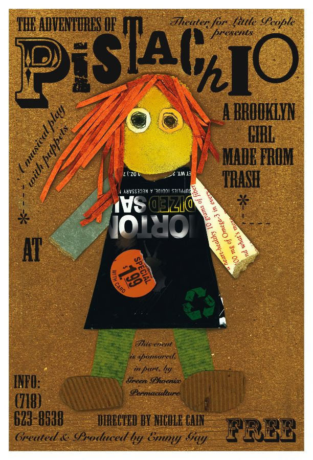 Pistachio a Brooklyn Girl made from Trash