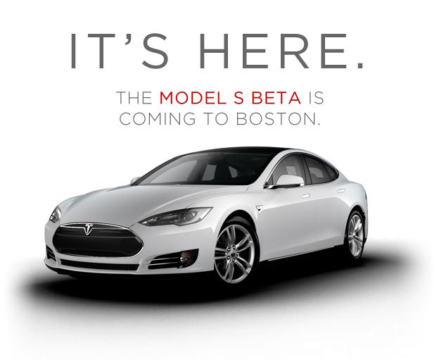 Tesla S Car At Larz Anderson Brookline Ma