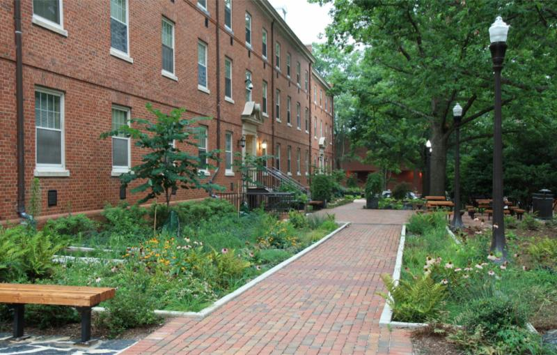Green infrastructure project at NC State University