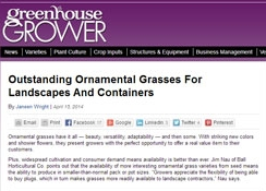 Greenhouse Grower article on grasses