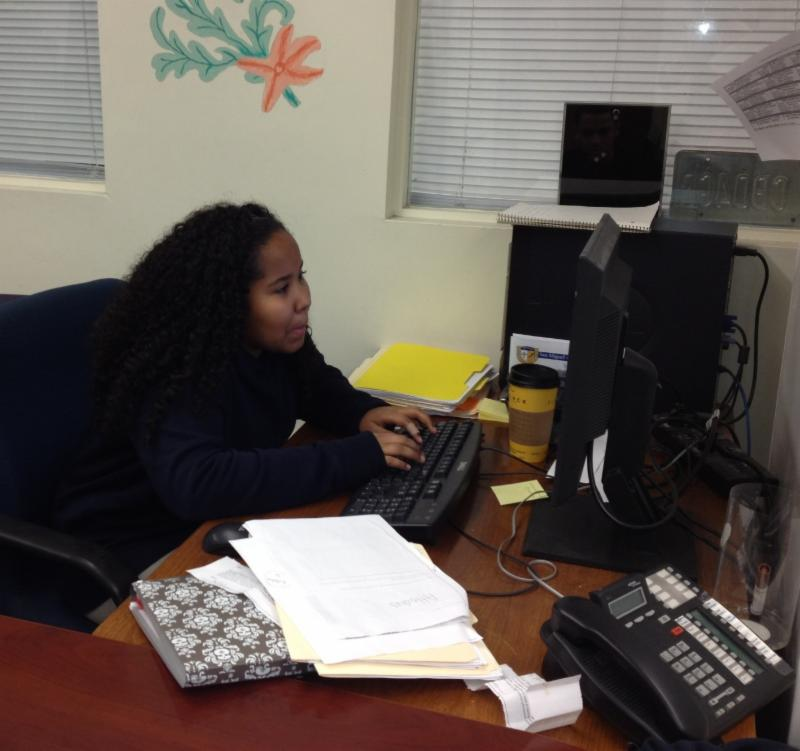 back to school become a dinner volunteer and getting ready for  class ofgraduate jalissa evora working on her high school application essay last year she was accepted into the competitive quotgateway programquot at the