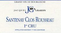 Girardin Santenay Rousseau Label