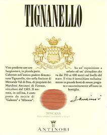 Tignanello Label