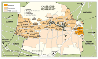 Chassagne-Montrachet Map