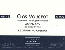 Anne Gros Vougeot Label