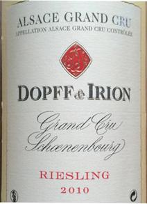 Dopff Irion 2010 Schoenenbourg Label