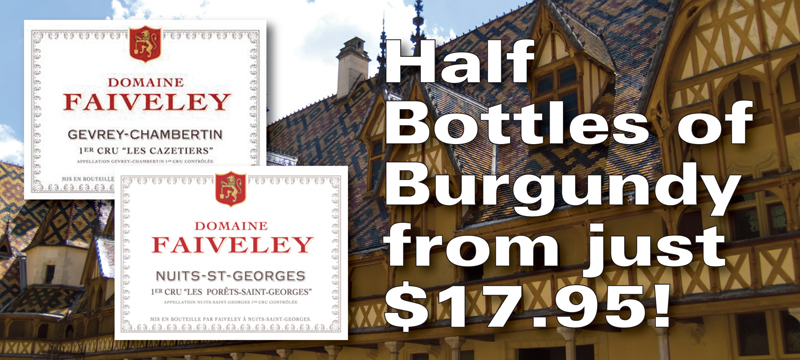 Half Bottles Burgundy Header