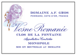 A-F Gros Fontaine Label