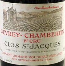Rousseau Clos St Jacques Label