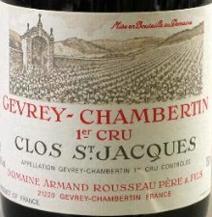 Rousseau Clos St Jacques Label