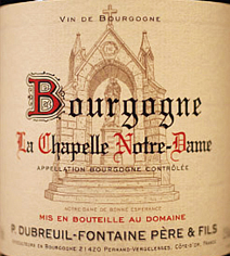 Dubreuil-Fontaine Bourgogne Rouge Label