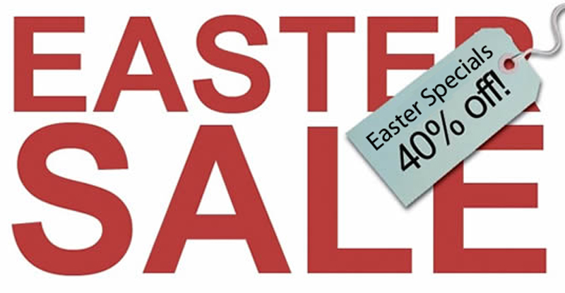 Easter 40 Percent Sale