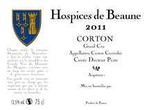 Hospcies Corton Peste Label 2011