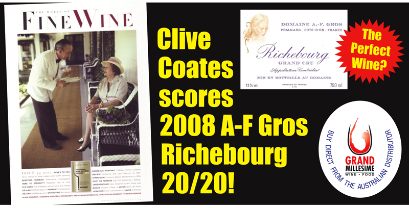 A-F Gros 2008 Richebourg Perfect Header