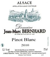 Bernard Pinot Blanc Label