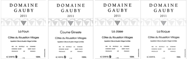 Gauby 4 Top Labels