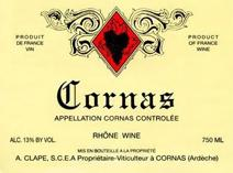 Clape Cornas Label