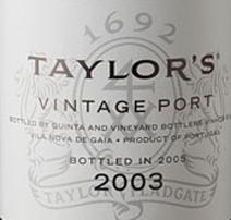 Taylors 2003 Port Label