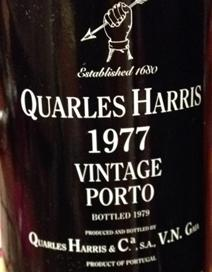 Quarles Harris 1977 Port Label