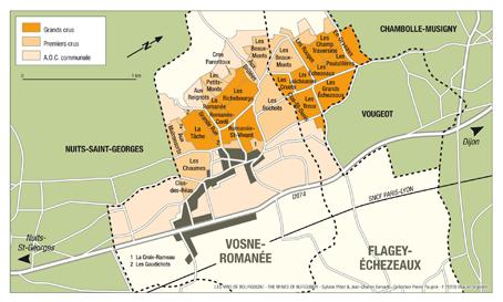 Flagey-Echezeaux Map