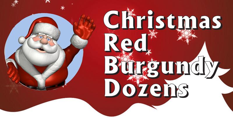 Christmas Red Burgundy Packs