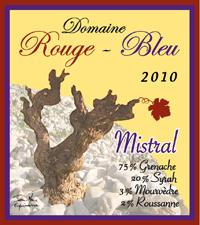 Rouge-Bleu Mistral Label 2010