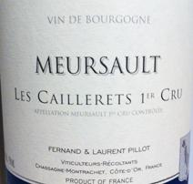 Pillot Caillerets Label