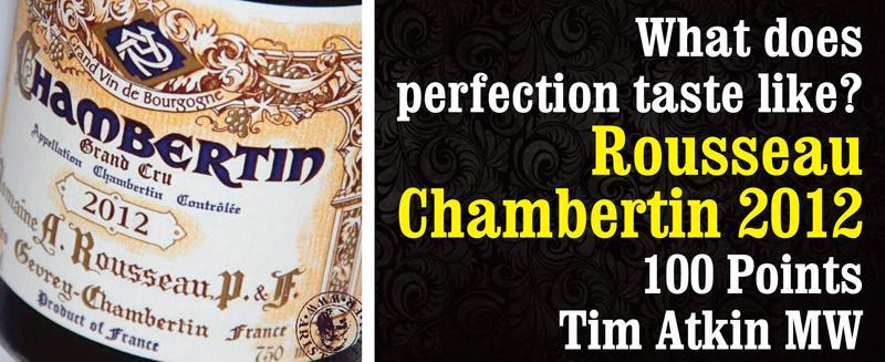 Rousseau 2012 Chambertin Header