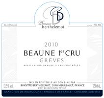 Berthelemot Beaune Greves 2010