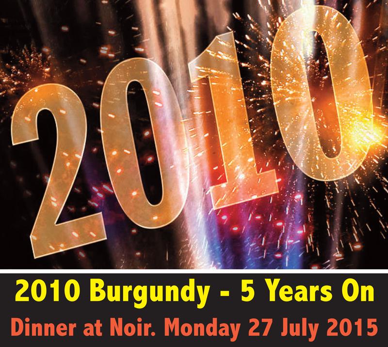 2010 Burgundy Dinner