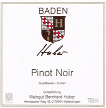 Huber Pinot Label