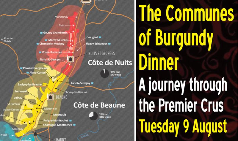 Communes Burgundy Dinner Header
