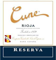 Cune Rioja Reserva Label