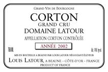 Domaine Latour Corton 2002 Label