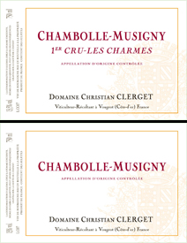 Clerget Chambolle Label Pair