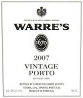 Warre 2007 VP Label