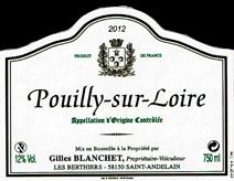 Blanchet Pouilly-Sur-Loire Label