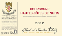 Felettig Hautes Cotes Nuits 2012