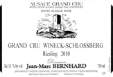 Bernhard Wineck Schlossberg Label