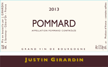 Girardin Pommard Label New
