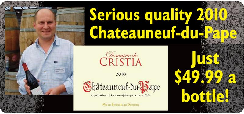 Cristia 2010 Chateauneuf Header